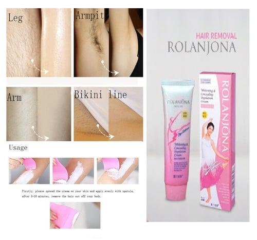 Rolanjona Depilatory Whitening cream / perontok bulu / hair removal