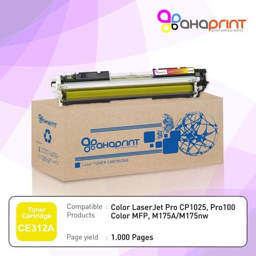 AHAPRINT Toner Cartridge Tinta Printer Laserjet 126A CE312A Color Yellow Murah