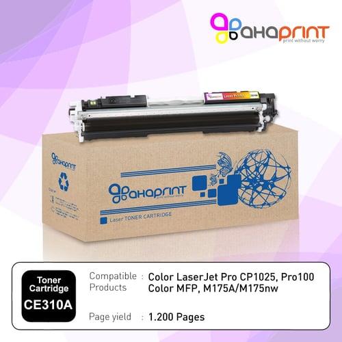 AHAPRINT Toner Cartridge Tinta Printer Laserjet 126A CE310A Black Monochrome Murah