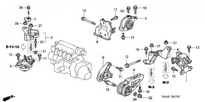 HONDA Engine Mounting Honda Jazz