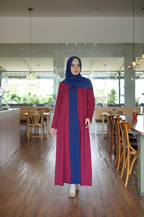Gamis Outery Pakaian Wanita Muslimah Kekinian