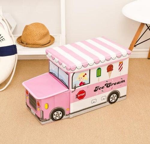BEST SELLER 263 Storage Box / Cartoon Storage BUS Kotak peyimpanan mainan toys-PINK