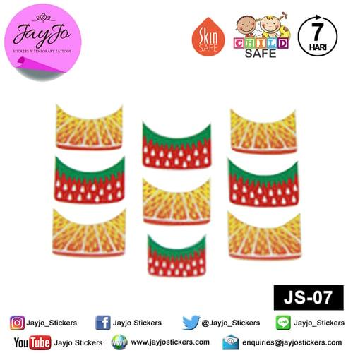 Jayjo Stickers JS-07 Nail Stickers Strawberry Orange - Nail Sticker - Sticker Kuku- Nail Tattoo - Tato Kuku