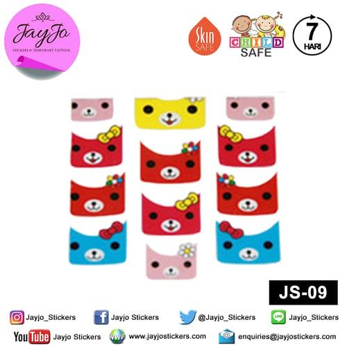 Jayjo Stickers JS-09 Nail Stickers Teddy Bear - Nail Sticker - Sticker Kuku- Nail Tattoo - Tato Kuku