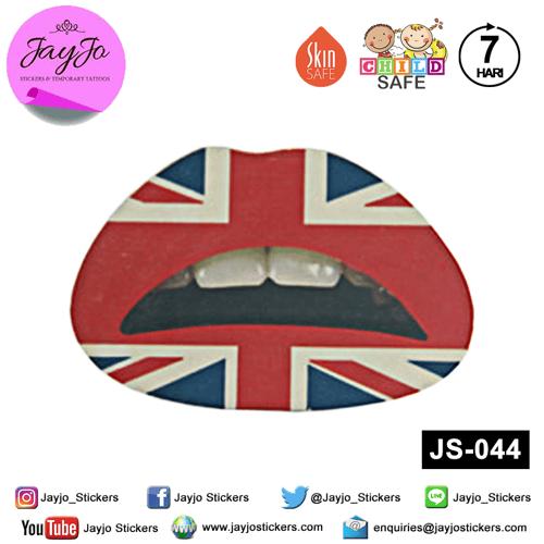 Jayjo Stickers JS-044 Lip Stickers - Lipstick - Sticker Bibir - Lip Tattoo - Tato Bibir