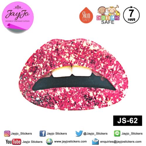 Jayjo Stickers JS-62 Lip Stickers - Lipstick - Sticker Bibir - Lip Tattoo - Tato Bibir