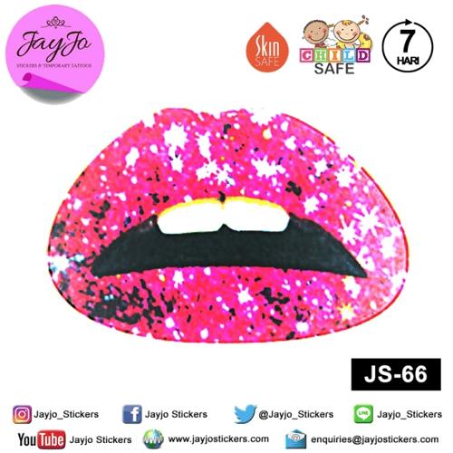 Jayjo Stickers JS-66 Lip Stickers - Lipstick - Sticker Bibir - Lip Tattoo - Tato Bibir