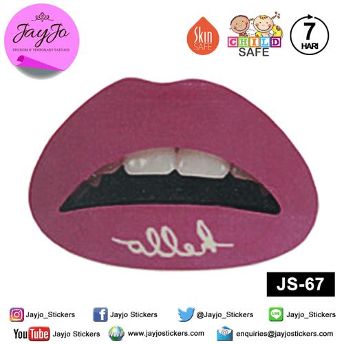 Jayjo Stickers JS-67 Lip Stickers - Lipstick - Sticker Bibir - Lip Tattoo - Tato Bibir