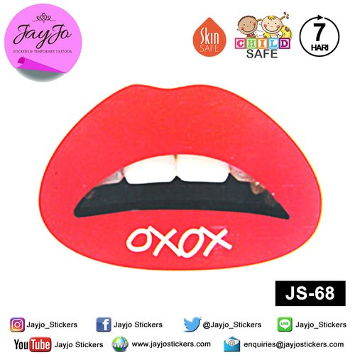 Jayjo Stickers  JS-68  Lip Stickers - Lipstick - Sticker Bibir - Lip Tattoo - Tato Bibir