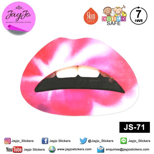 Jayjo Stickers  JS-71 Lip Stickers -  Lipstick - Sticker Bibir - Lip Tattoo - Tato Bibir