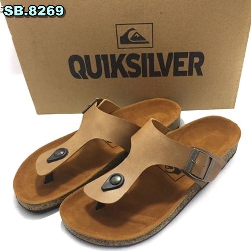 Sandal Kulit Quiksilver - Birken Jepit Cream Tua