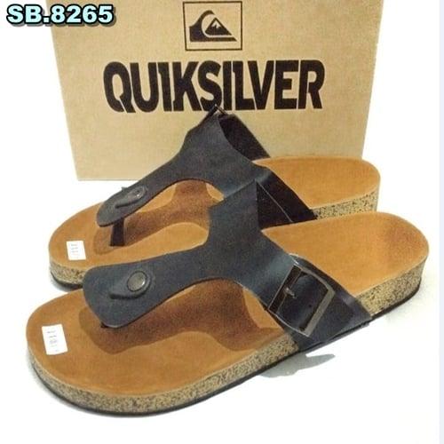 Sandal Kulit Quiksilver - Birken Jepit Hitam
