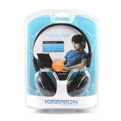 Headset / Headphone Keenion KOS-220 Full Hitam Superbass Murah