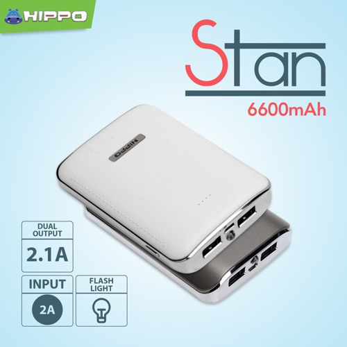 HIPPO Power Bank Stan 6600mah Powerbank Original Resmi