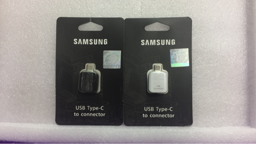 OTG TYPE C To Usb Samsung S8 S8+ A7 C9 Pro Black / White Original