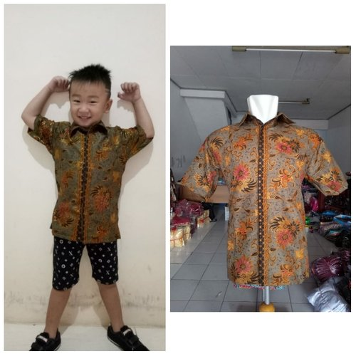 Batik Couple Shofa Kemeja Batik Dewasa dan Kemeja Batik Anak