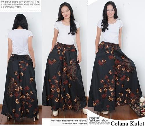 Celana Kulot Batik Rhazqi Long Pants Wanita