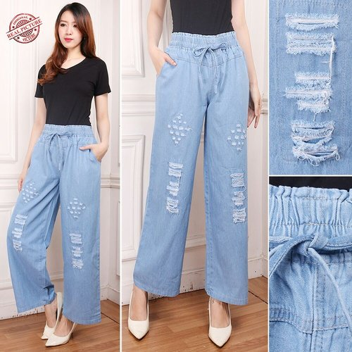 Celana Kulot Jeans Lila Jeans Wanita