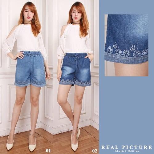 Celana Pendek Alya Hot Pants Jeans Wanita