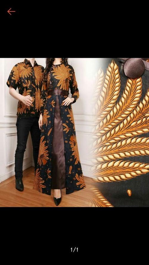Couple Gamis Batik Nadhif dan Kemeja Batik Pria