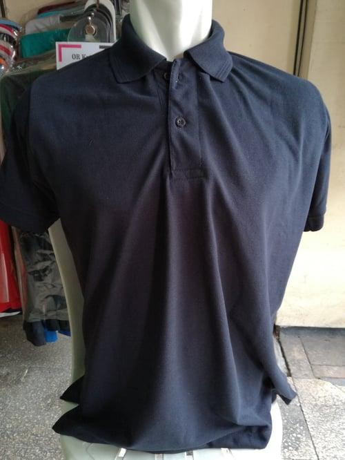 Polo Shirt Lacoste TC Single Knit Tangan Pendek Hitam Merk Sibisan