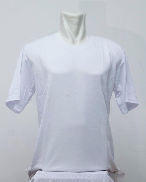 Kaos Polos Oblong Combed 24s Tangan Pendek Putih Merk Hamann