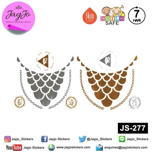 Jayjo Stickers JS-277 Temporary Tattoo - Tato Temporer - Jewelry Temporary Tattoo