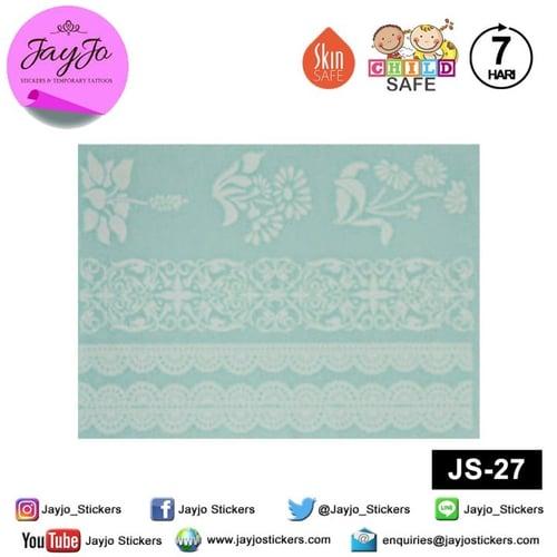 Jayjo Stickers JS-27 White Henna Star Bracelet - Wedding Henna