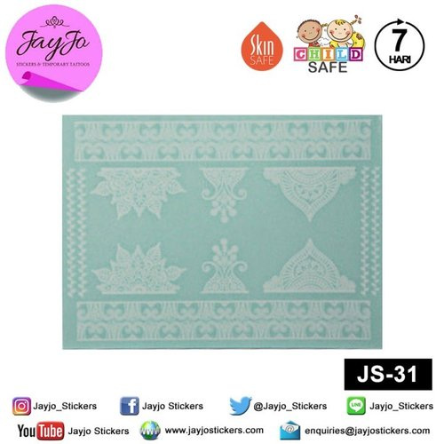 Jayjo Stickers  JS-31 White Henna  Kate Spade - Wedding Henna