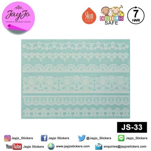 Jayjo Stickers JS-33 White Henna Royal Wedding - Wedding Henna