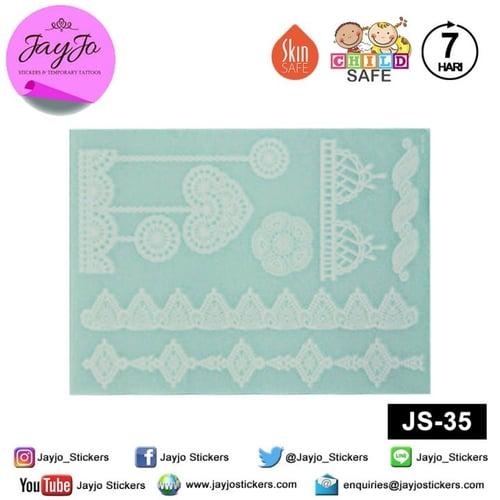 Jayjo Stickers JS-35 White Henna Love Pendant - Wedding Henna