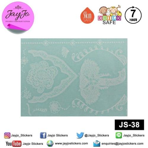 Jayjo Stickers JS-38 White Henna Exotique Elephant - Wedding Henna