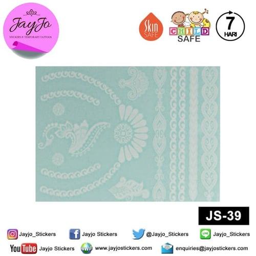 Jayjo Stickers JS-39 White Henna Royal Necklace - Wedding Henna