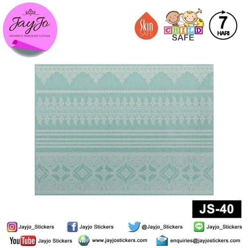 Jayjo Stickers JS-40 White Henna Sporty Bandage - Wedding Henna