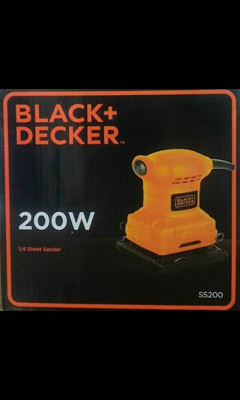 Mesin hamplas 1/4 Sheet Sander Black and Dacker SS200-B1
