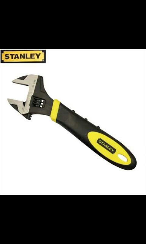"Kunci inggris stanley 12"" MaxSteel Adjustable Wrench 90-950-22"
