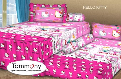 Sprei Sorong 2 in 1 motif Hello Kitty