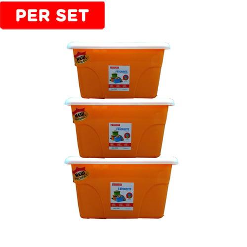 MASPION Favourite Container Set 3Pc - Orange