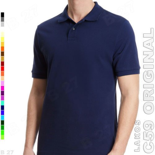 C59 Original K1-34 Kaos Polo Shirt Cowok Lakos Basic Navy