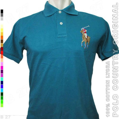 POLO COUNTRY Original C2-33 Kaos Kerah Cowo Cotton Lycra Tosca Tua
