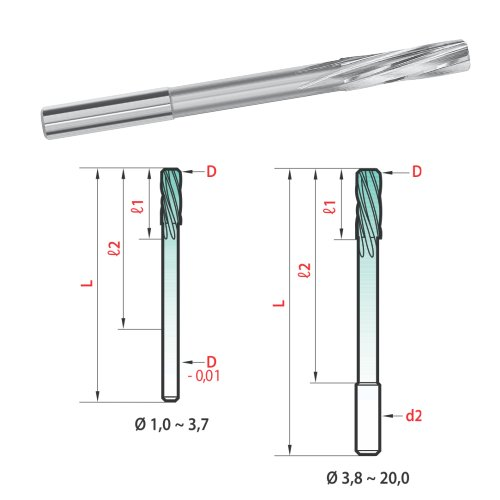 Magafor 610 - Machine Reamers  5 mm