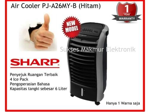 Sharp Air Cooler PJ-A26MY-B - Hitam, 65 Watt, Kapasitas Tangki Air 6 L