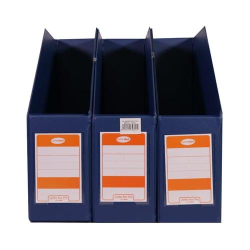 LOTTE MART T Jumbo Box File Biru Tua 3 Pcs