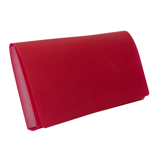 BANTEX Expanding File Cheque 6 Pockets Red 8810 09