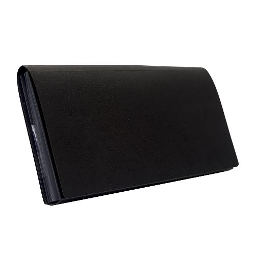 BANTEX Expanding File Cheque 6 Pockets Black 8810 10