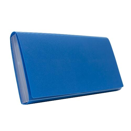 BANTEX Expanding File Cheque 6 Pockets Cobalt Blue 8810 11