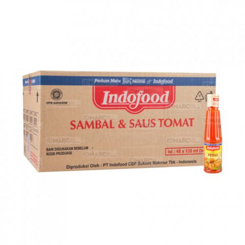Sambal Pedas Indofood Botol 135 ml isi 48 pcs