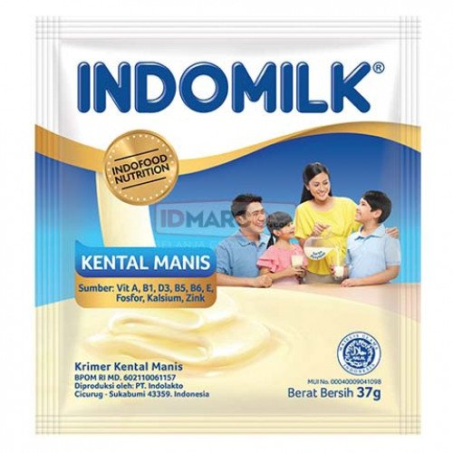Indomilk Kental Manis Plain Sachet 37 gr Isi 120 Pcs