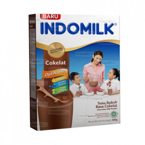 Indomilk Susu Bubuk Cokelat 400 gr Isi 24 Pcs