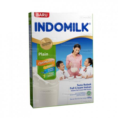 Indomilk Susu Bubuk Full Cream Tawar 800 gr Isi 12 Pcs
